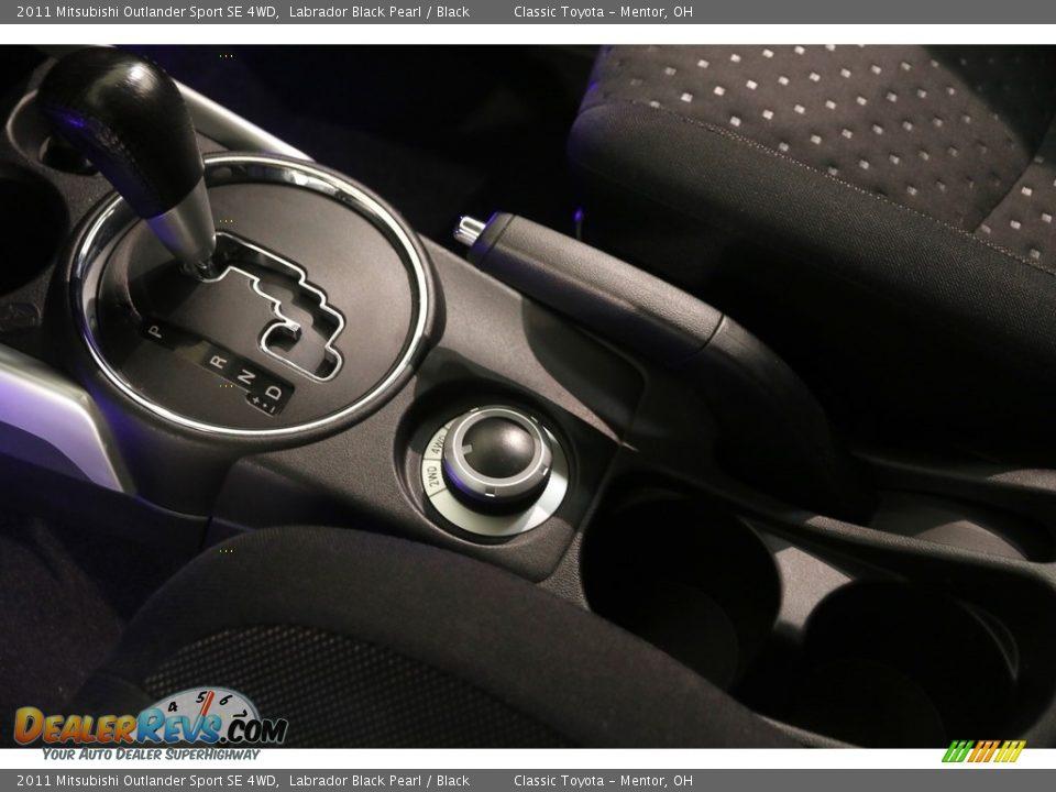2011 Mitsubishi Outlander Sport SE 4WD Labrador Black Pearl / Black Photo #11