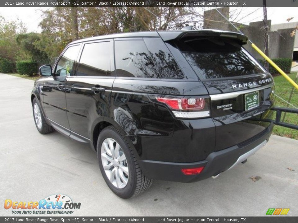 2017 Land Rover Range Rover Sport HSE Santorini Black / Espresso/Almond Photo #12
