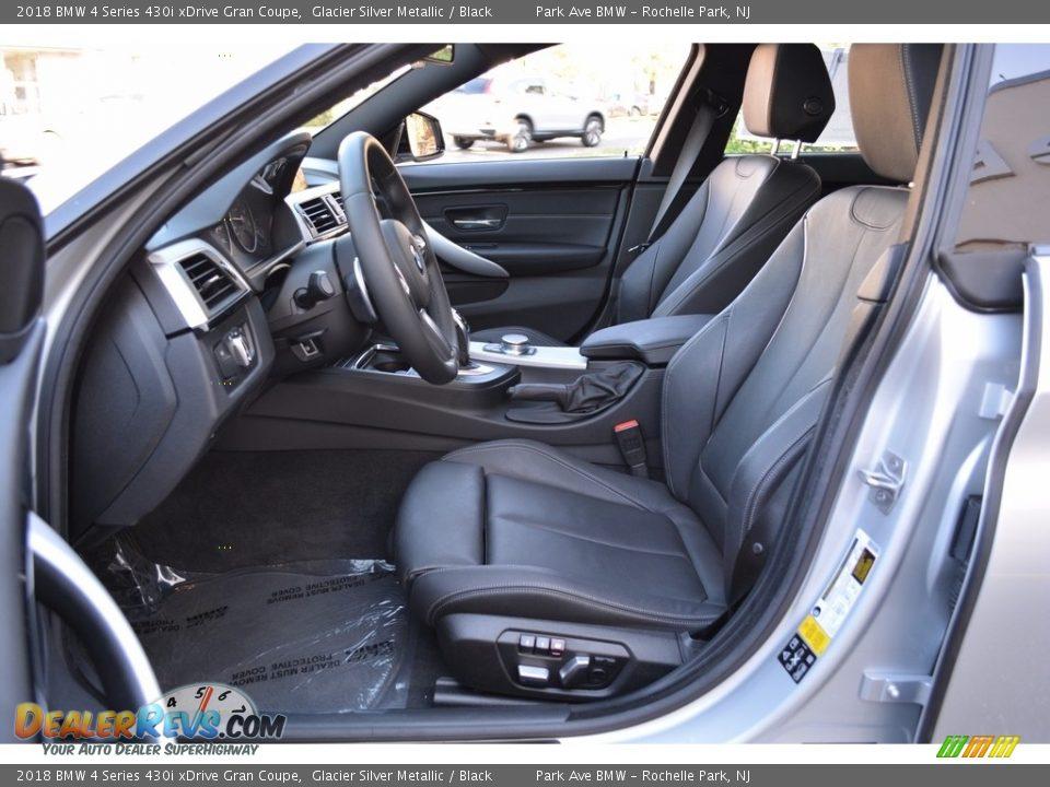 2018 BMW 4 Series 430i xDrive Gran Coupe Glacier Silver Metallic / Black Photo #11
