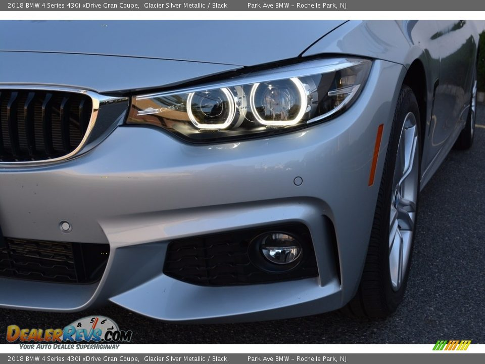 2018 BMW 4 Series 430i xDrive Gran Coupe Glacier Silver Metallic / Black Photo #31