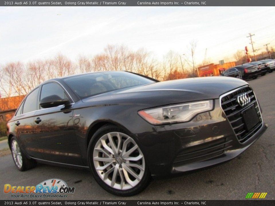 2013 Audi A6 3.0T quattro Sedan Oolong Gray Metallic / Titanium Gray Photo #2