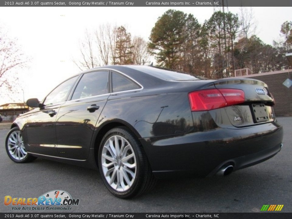 2013 Audi A6 3.0T quattro Sedan Oolong Gray Metallic / Titanium Gray Photo #8