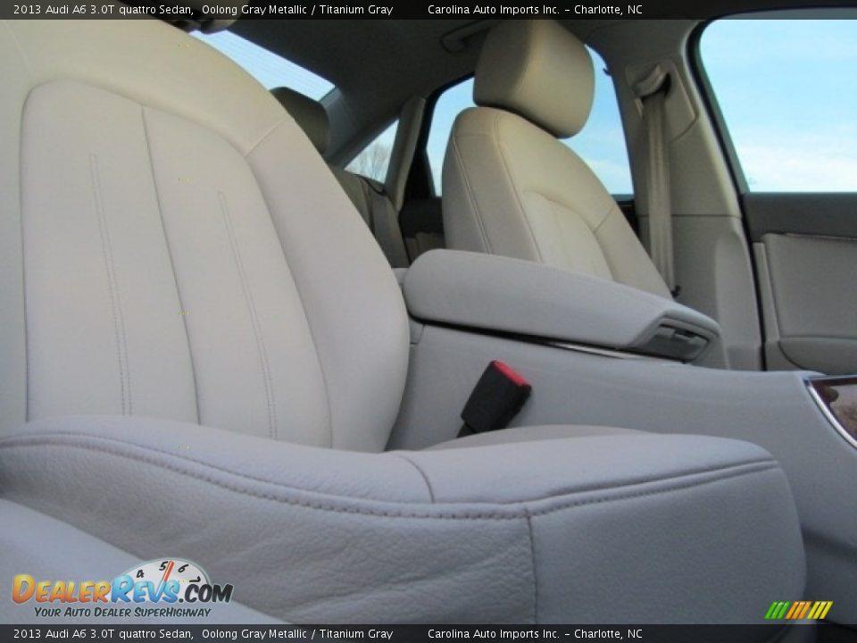 2013 Audi A6 3.0T quattro Sedan Oolong Gray Metallic / Titanium Gray Photo #23