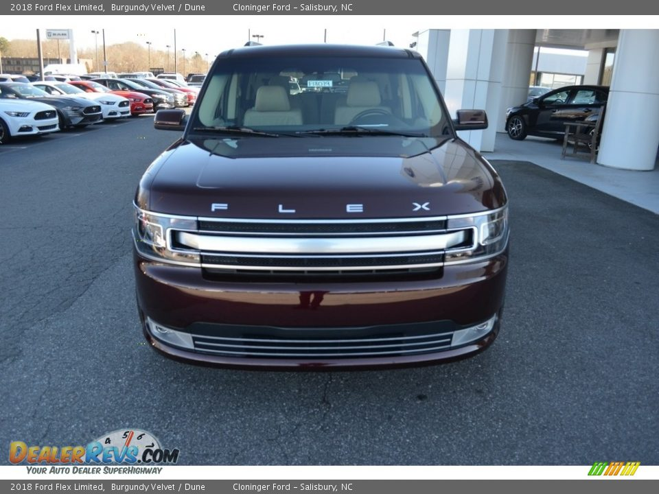2018 Ford Flex Limited Burgundy Velvet / Dune Photo #4