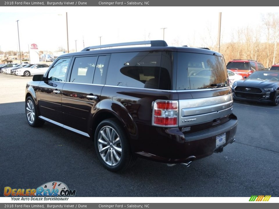 2018 Ford Flex Limited Burgundy Velvet / Dune Photo #26