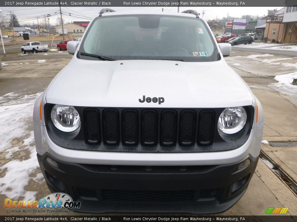 2017 Jeep Renegade Latitude 4x4 Glacier Metallic / Black Photo #8