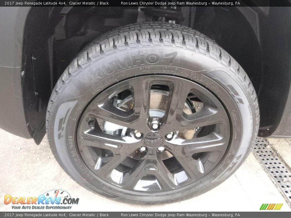 2017 Jeep Renegade Latitude 4x4 Glacier Metallic / Black Photo #9