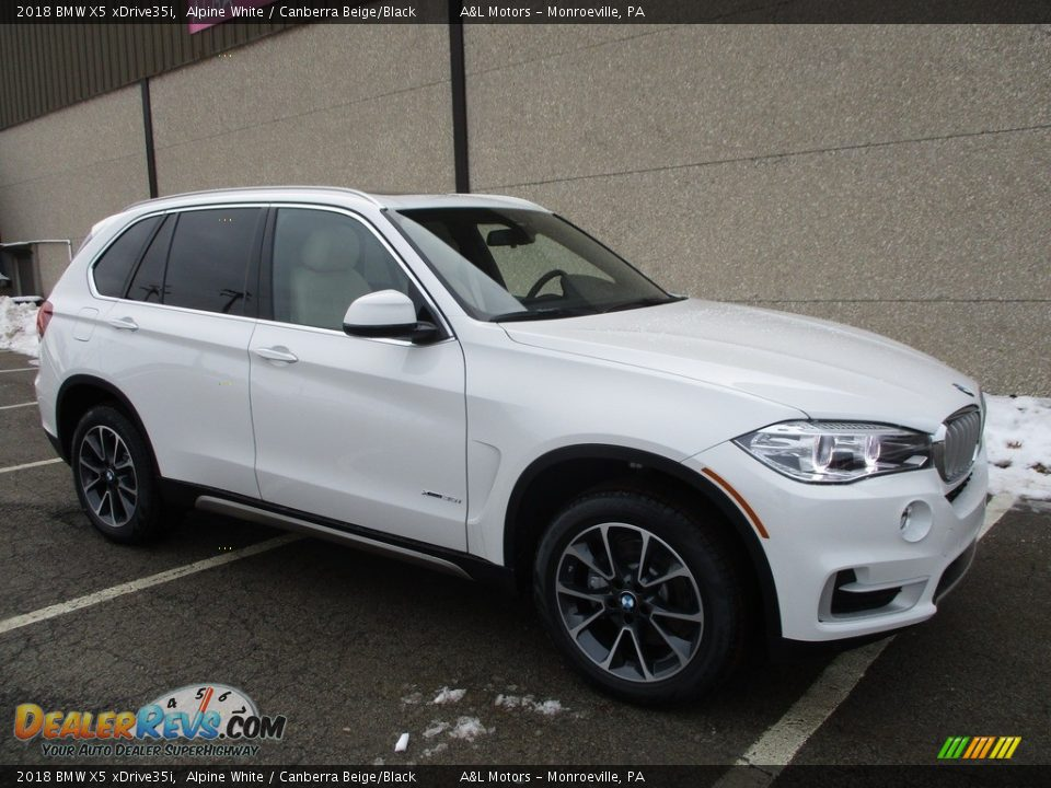 2018 BMW X5 xDrive35i Alpine White / Canberra Beige/Black Photo #1