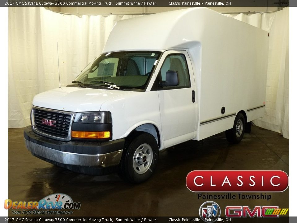 2017 GMC Savana Cutaway 3500 Commercial Moving Truck Summit White / Pewter Photo #1