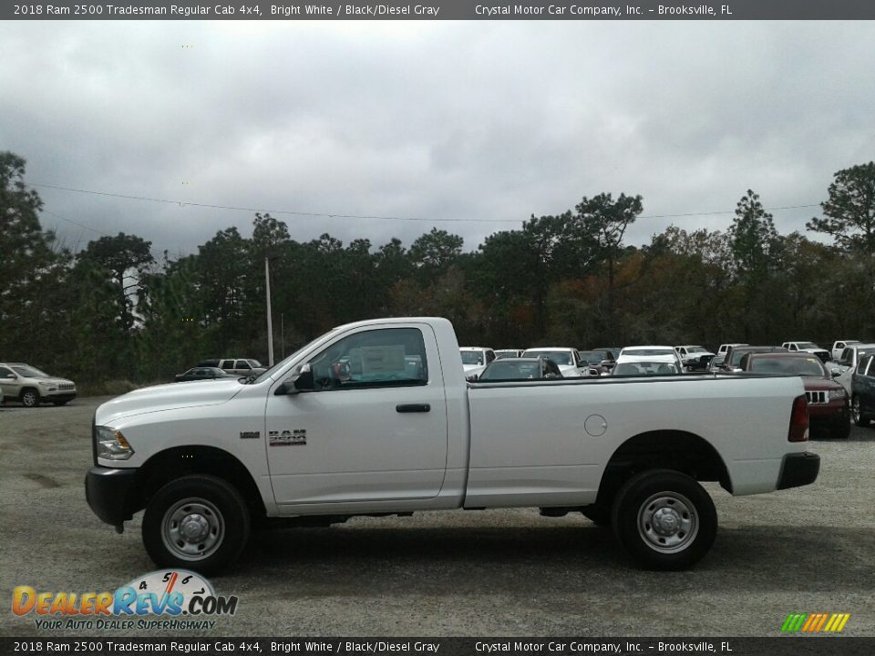 2018 Ram 2500 Tradesman Regular Cab 4x4 Bright White / Black/Diesel Gray Photo #2