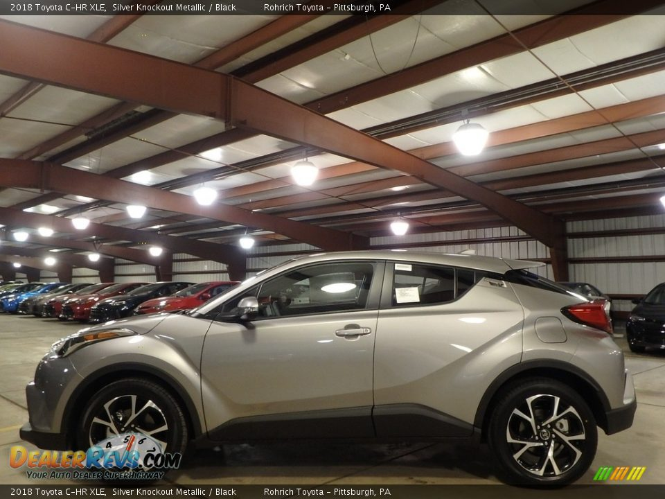 2018 Toyota C-HR XLE Silver Knockout Metallic / Black Photo #3