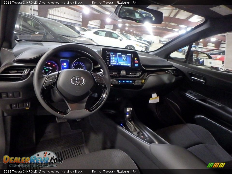 Black Interior - 2018 Toyota C-HR XLE Photo #8