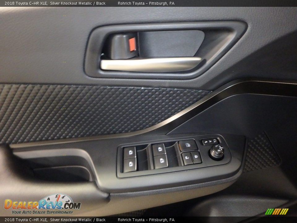 2018 Toyota C-HR XLE Silver Knockout Metallic / Black Photo #9