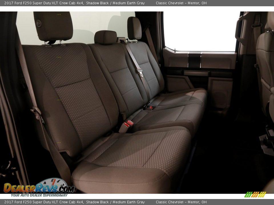 2017 Ford F250 Super Duty XLT Crew Cab 4x4 Shadow Black / Medium Earth Gray Photo #14