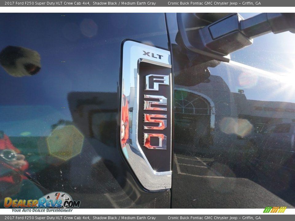 2017 Ford F250 Super Duty XLT Crew Cab 4x4 Shadow Black / Medium Earth Gray Photo #13