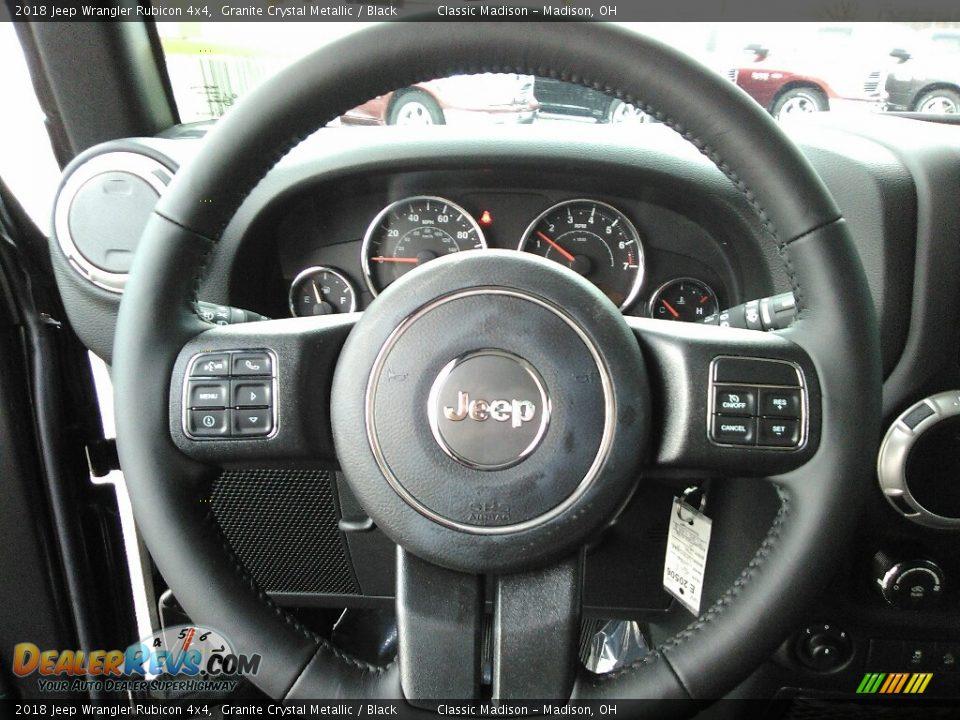 2018 Jeep Wrangler Rubicon 4x4 Steering Wheel Photo #7