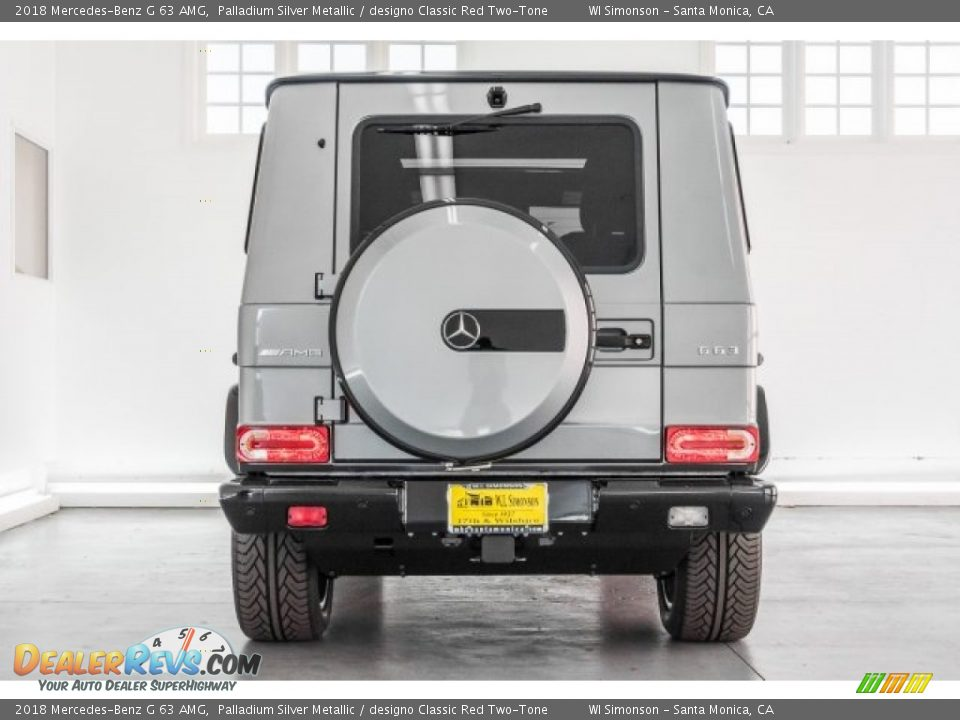 2018 Mercedes-Benz G 63 AMG Palladium Silver Metallic / designo Classic Red Two-Tone Photo #3