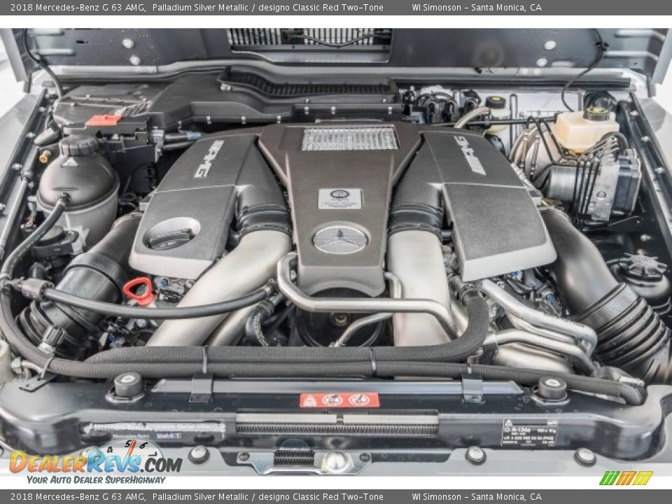 2018 Mercedes-Benz G 63 AMG 5.5 Liter AMG biturbo DOHC 32-Valve VVT V8 Engine Photo #8