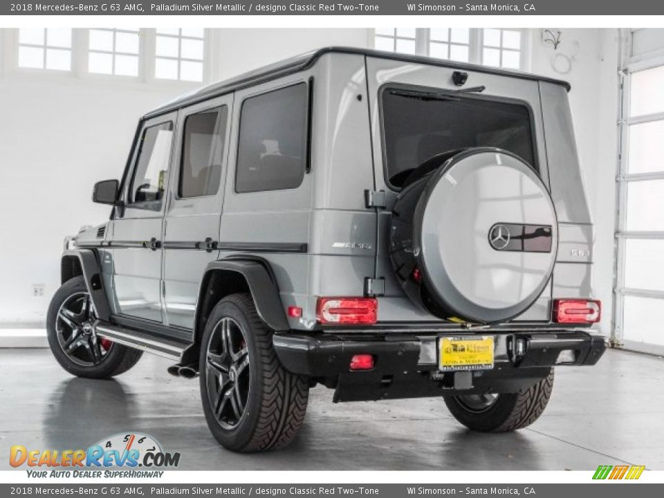 2018 Mercedes-Benz G 63 AMG Palladium Silver Metallic / designo Classic Red Two-Tone Photo #10