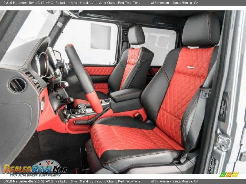 designo Classic Red Two-Tone Interior - 2018 Mercedes-Benz G 63 AMG Photo #18