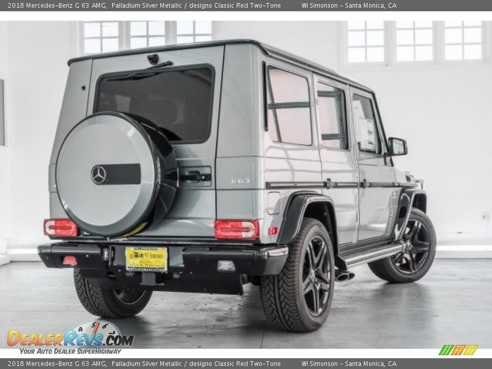 2018 Mercedes-Benz G 63 AMG Palladium Silver Metallic / designo Classic Red Two-Tone Photo #19