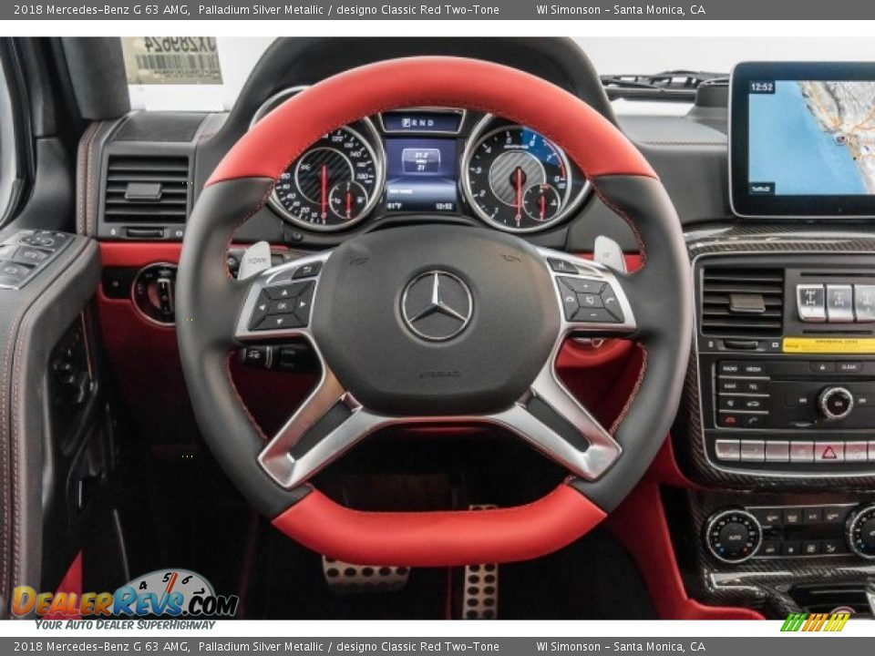 2018 Mercedes-Benz G 63 AMG Steering Wheel Photo #22