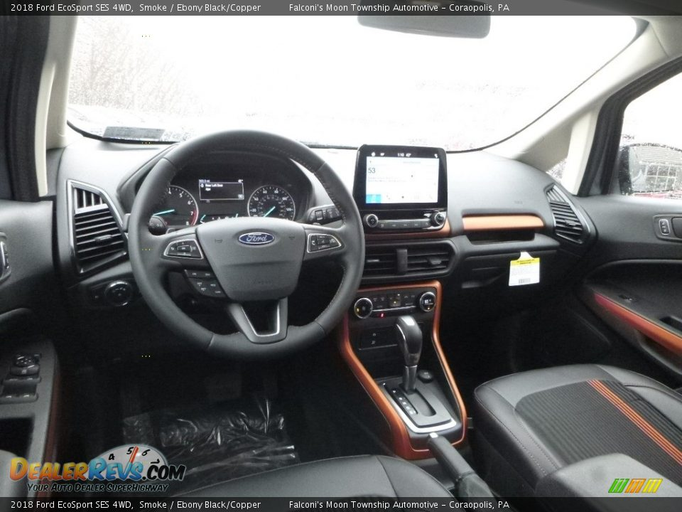Ebony Black/Copper Interior - 2018 Ford EcoSport SES 4WD Photo #8