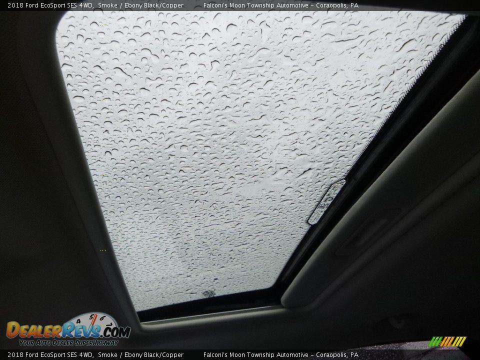 2018 Ford EcoSport SES 4WD Smoke / Ebony Black/Copper Photo #12