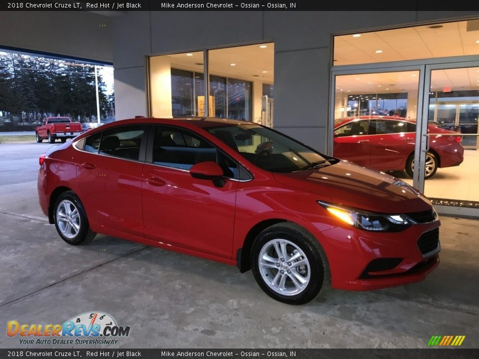 2018 Chevrolet Cruze LT Red Hot / Jet Black Photo #1