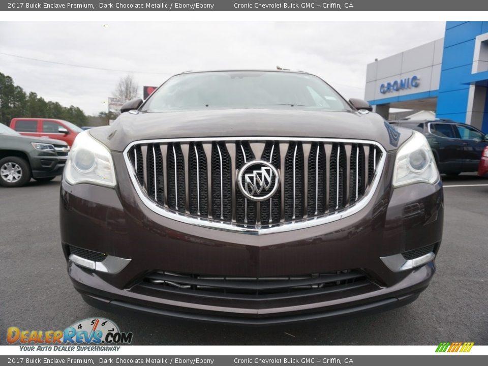 2017 Buick Enclave Premium Dark Chocolate Metallic / Ebony/Ebony Photo #2