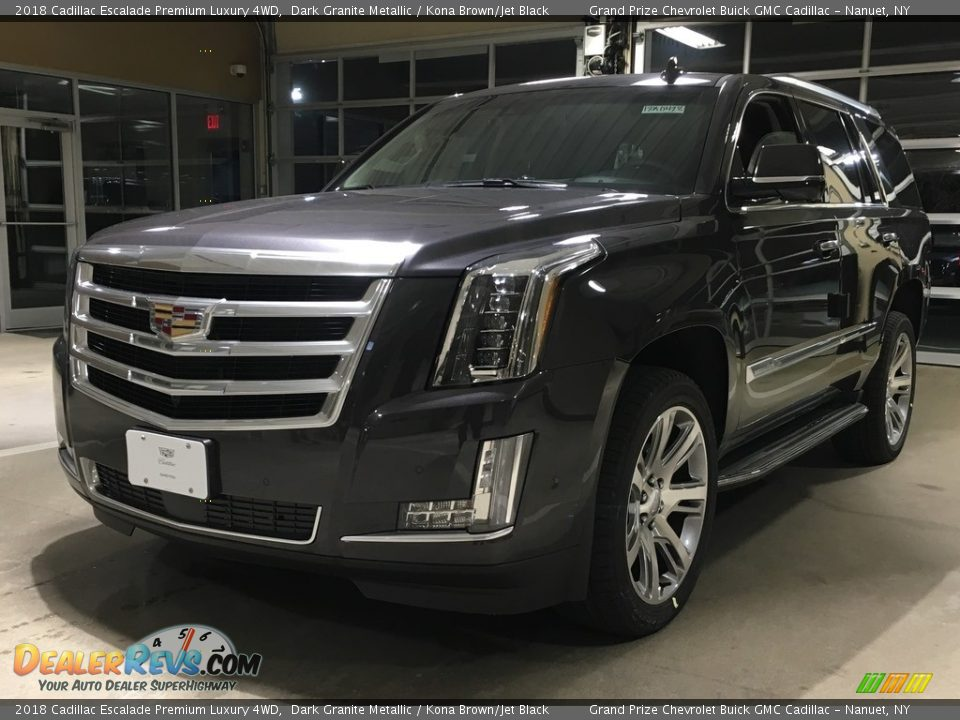 2018 Cadillac Escalade Premium Luxury 4WD Dark Granite Metallic / Kona Brown/Jet Black Photo #1