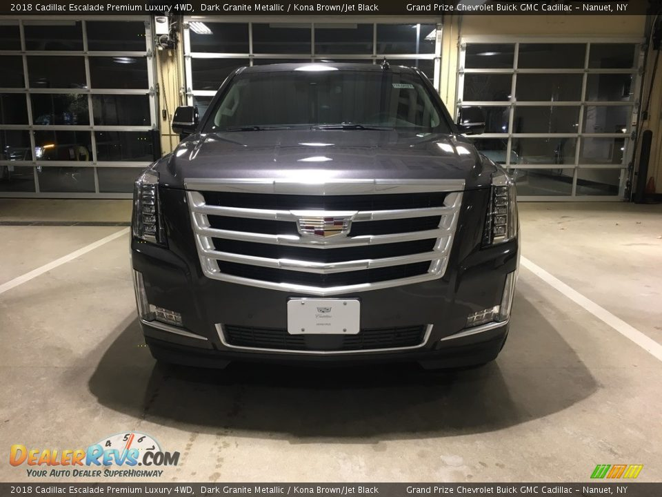 2018 Cadillac Escalade Premium Luxury 4WD Dark Granite Metallic / Kona Brown/Jet Black Photo #2