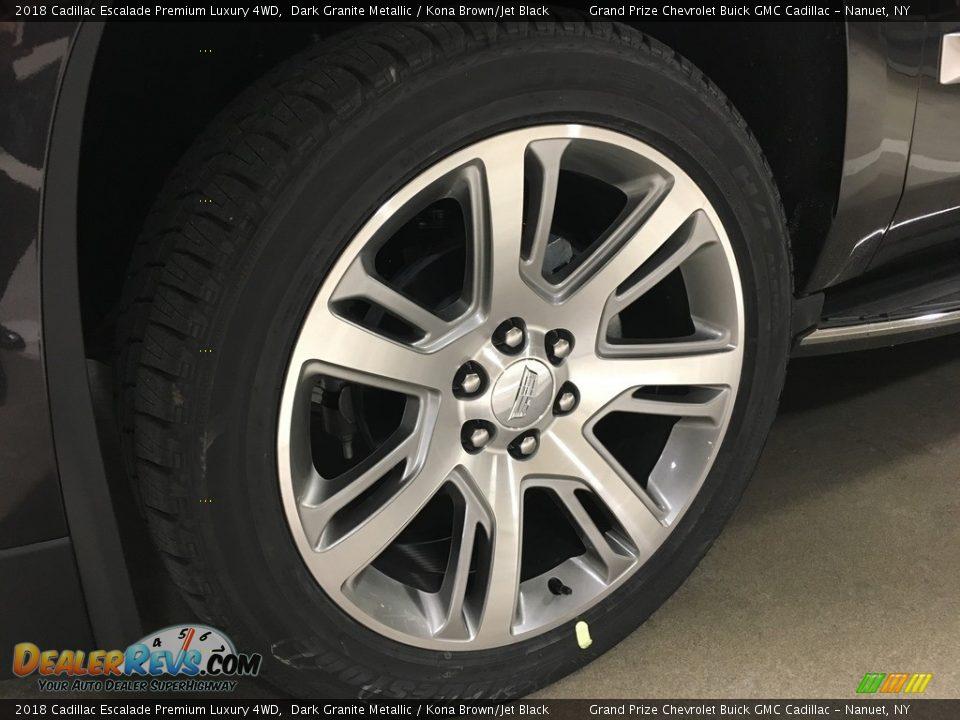 2018 Cadillac Escalade Premium Luxury 4WD Dark Granite Metallic / Kona Brown/Jet Black Photo #3