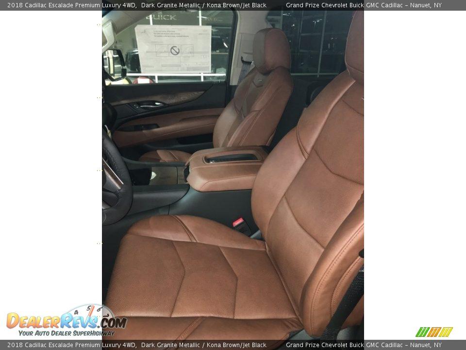 2018 Cadillac Escalade Premium Luxury 4WD Dark Granite Metallic / Kona Brown/Jet Black Photo #4