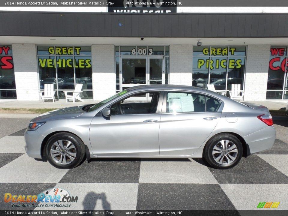 2014 Honda Accord LX Sedan Alabaster Silver Metallic / Gray Photo #1
