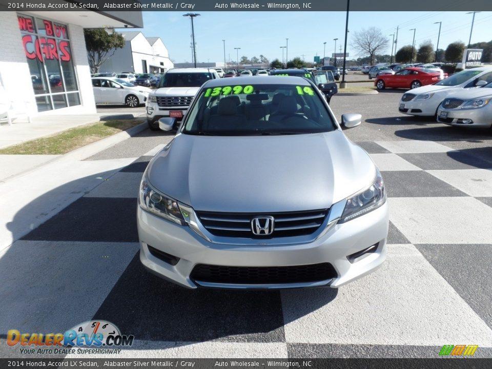 2014 Honda Accord LX Sedan Alabaster Silver Metallic / Gray Photo #2