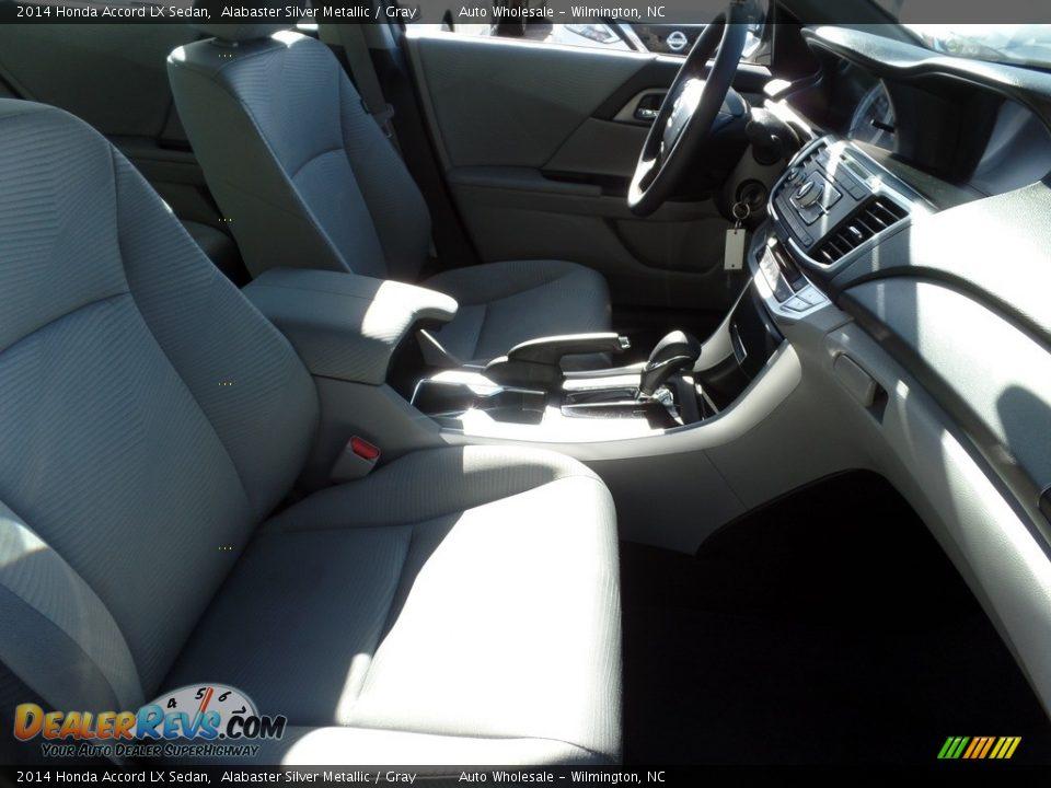 2014 Honda Accord LX Sedan Alabaster Silver Metallic / Gray Photo #13