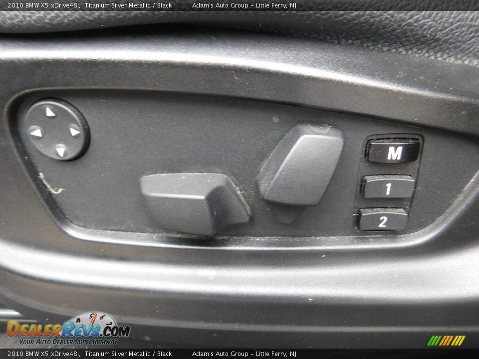 2010 BMW X5 xDrive48i Titanium Silver Metallic / Black Photo #13