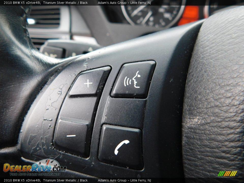 2010 BMW X5 xDrive48i Titanium Silver Metallic / Black Photo #28