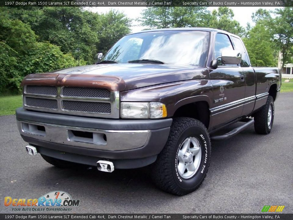 1997 dodge ram 1500 laramie slt extended cab 4x4 dark chestnut metallic camel tan photo 1. Black Bedroom Furniture Sets. Home Design Ideas