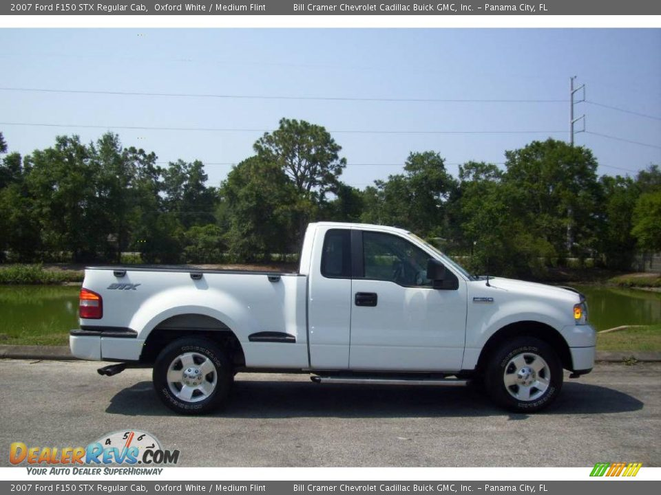 2007 ford f150 stx regular cab oxford white medium flint photo 1. Black Bedroom Furniture Sets. Home Design Ideas