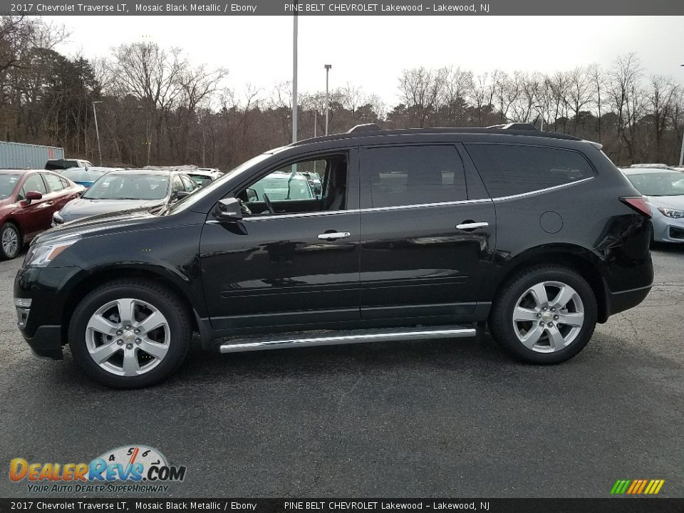 2017 Chevrolet Traverse LT Mosaic Black Metallic / Ebony Photo #3