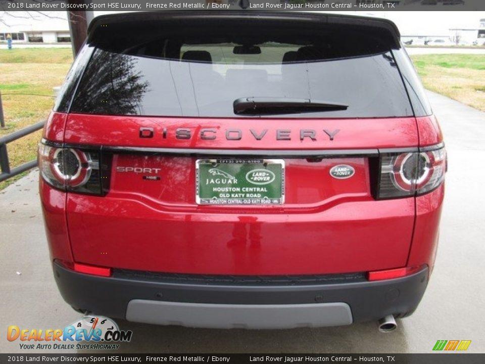 2018 Land Rover Discovery Sport HSE Luxury Firenze Red Metallic / Ebony Photo #8