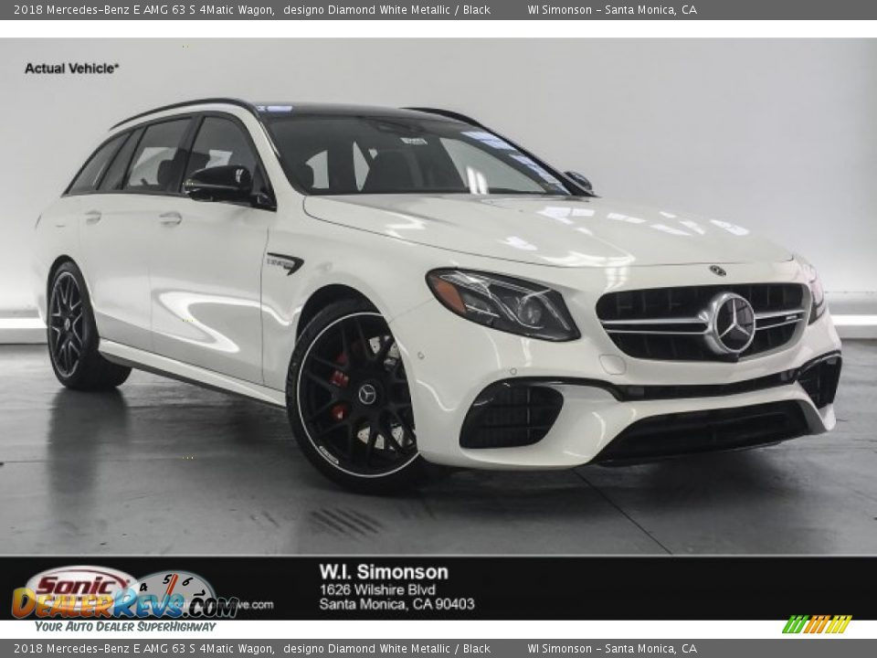 2018 Mercedes-Benz E AMG 63 S 4Matic Wagon designo Diamond White Metallic / Black Photo #1
