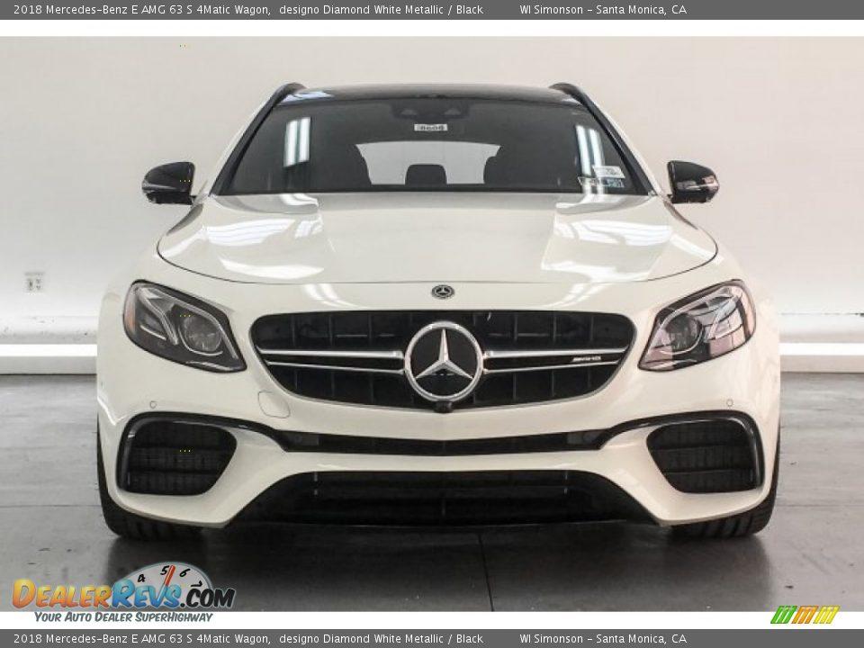2018 Mercedes-Benz E AMG 63 S 4Matic Wagon designo Diamond White Metallic / Black Photo #2