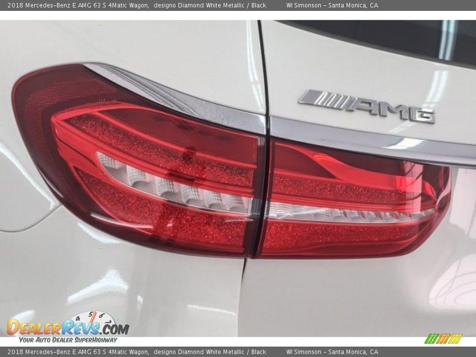 2018 Mercedes-Benz E AMG 63 S 4Matic Wagon designo Diamond White Metallic / Black Photo #24