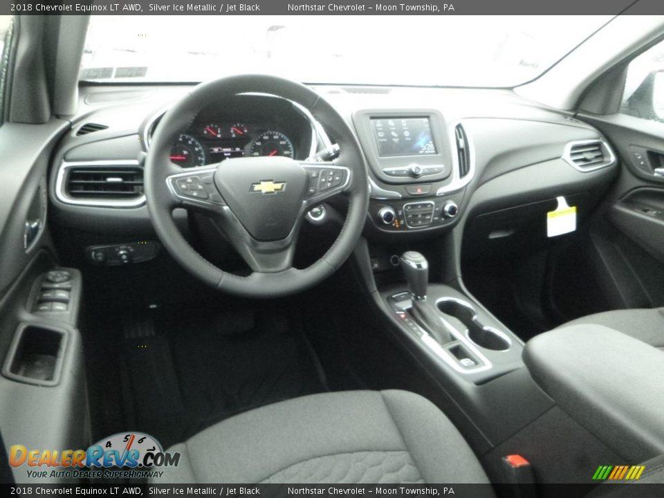 2018 Chevrolet Equinox LT AWD Silver Ice Metallic / Jet Black Photo #13