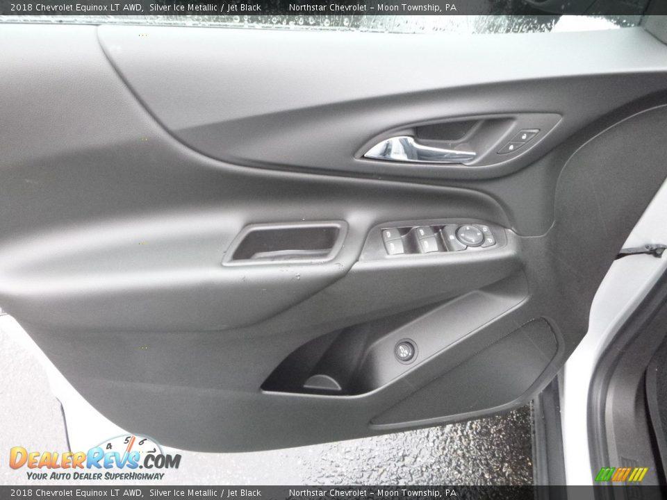 2018 Chevrolet Equinox LT AWD Silver Ice Metallic / Jet Black Photo #14