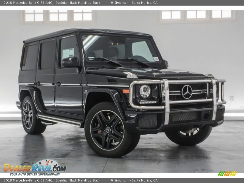 2018 Mercedes-Benz G 63 AMG Obsidian Black Metallic / Black Photo #10