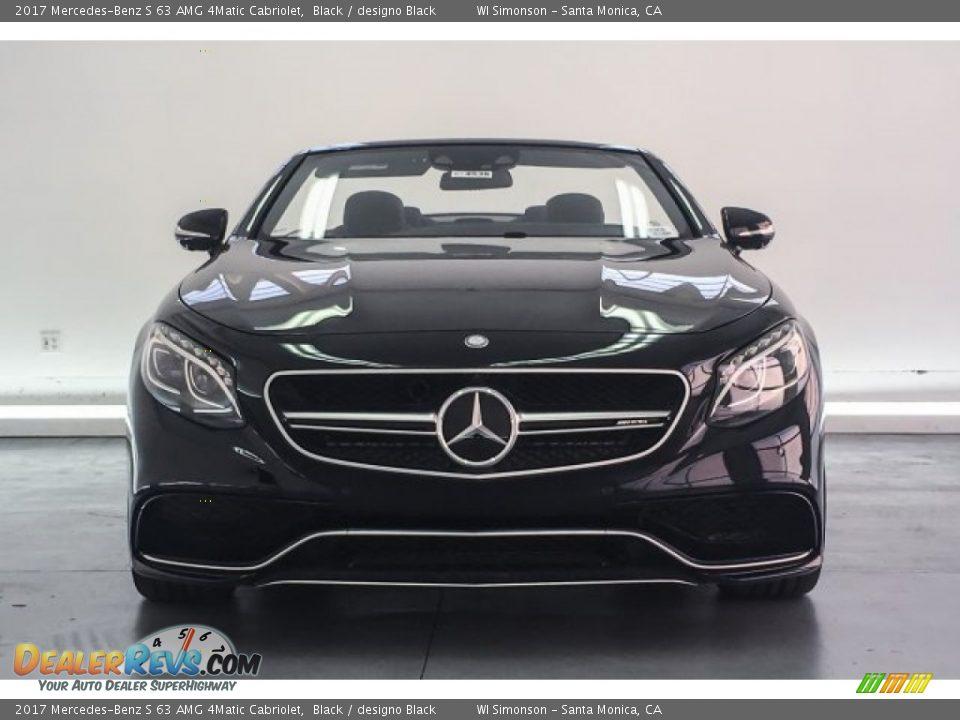 2017 Mercedes-Benz S 63 AMG 4Matic Cabriolet Black / designo Black Photo #2